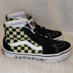 Vans Checkerboard black suede high top sneakers